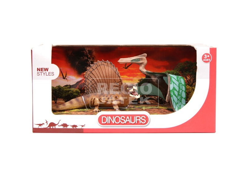 Dinoszaurusz 2 darabos készlet - 16 és 17 cm