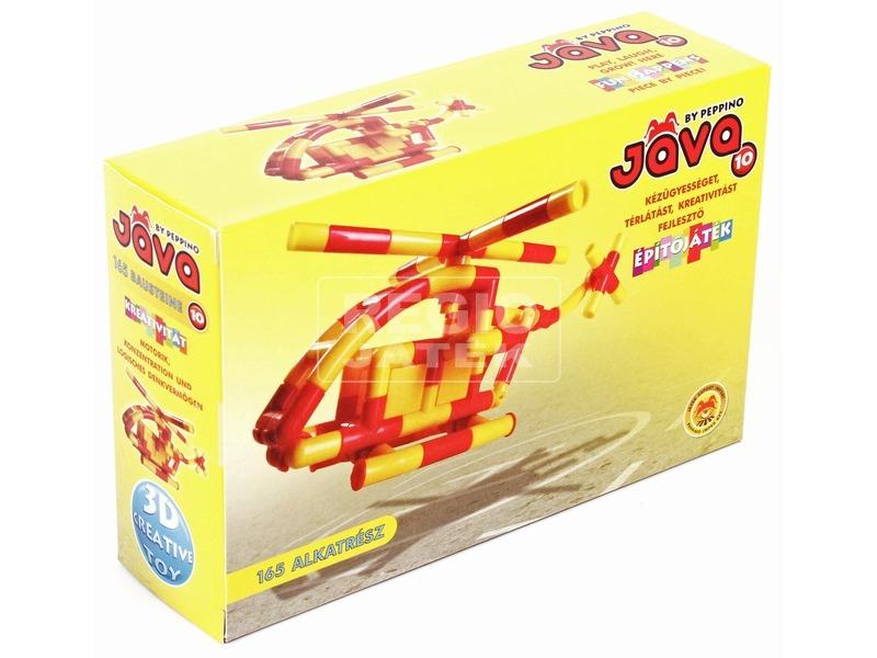 Jáva 10 helikopter műanyag építőjáték