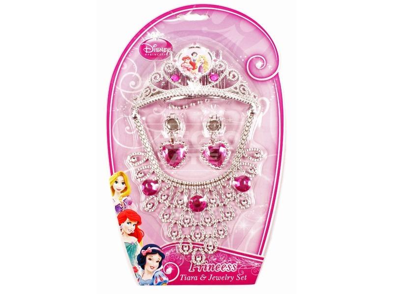 Disney hercegnők fejdísz, nyaklánc és fülbevaló készlet