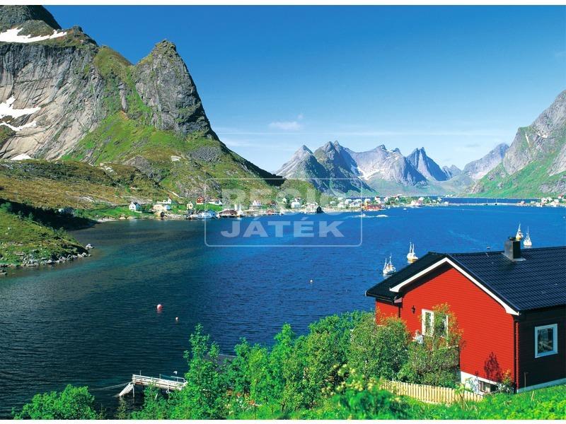 Norvég halászfalu 500 darabos puzzle