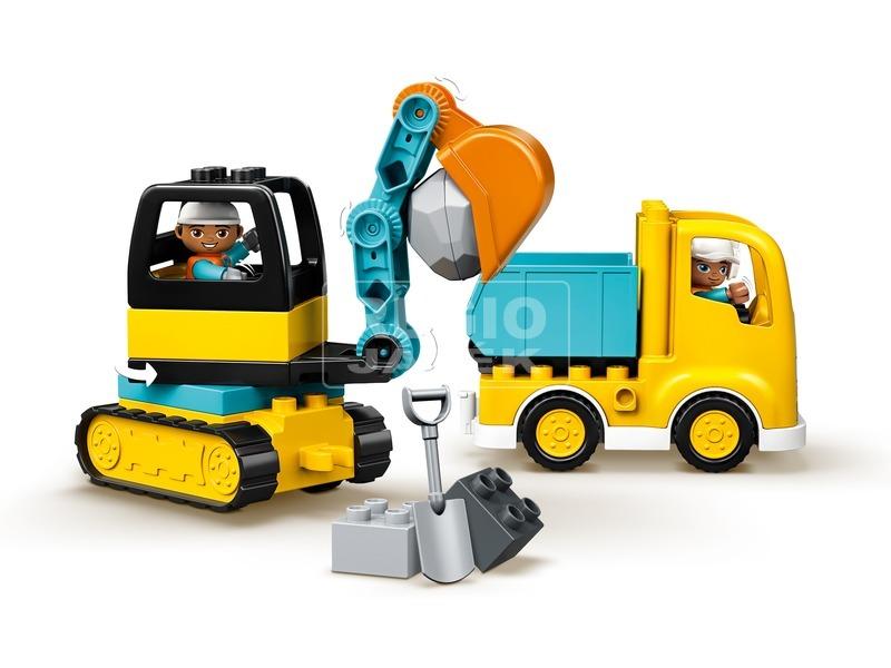 kép nagyítása LEGO® DUPLO TOWN Teherautó és lánctalpas exkavátor 10931