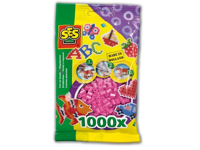 Vasalható gyöngy - 1000 db pink