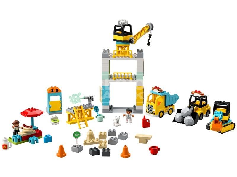 kép nagyítása LEGO® DUPLO TOWN Toronydaru és építkezés 10933
