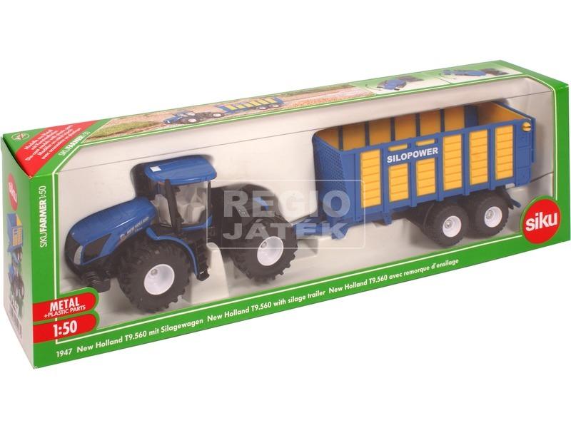 SIKU: New Holland traktor utánfutóval 1:50 - 1947