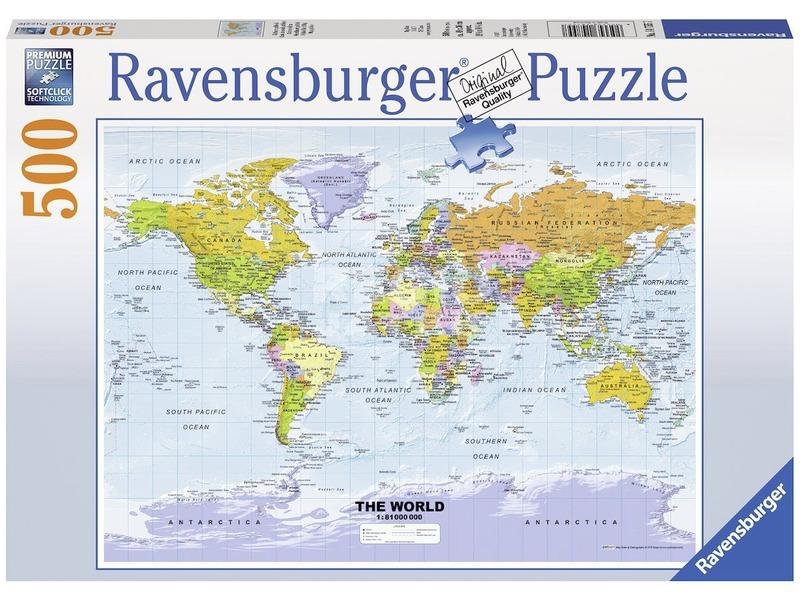 Politikai világtérkép 500 darabos puzzle