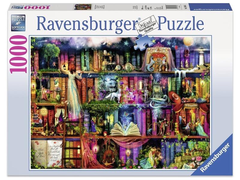 Tündérek könyvespolca 1000 darabos puzzle