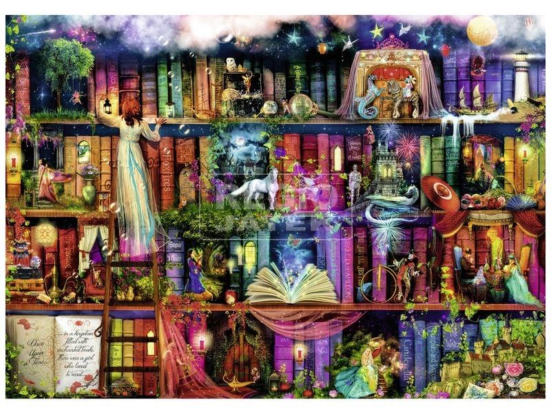 kép nagyítása Tündérek könyvespolca 1000 darabos puzzle
