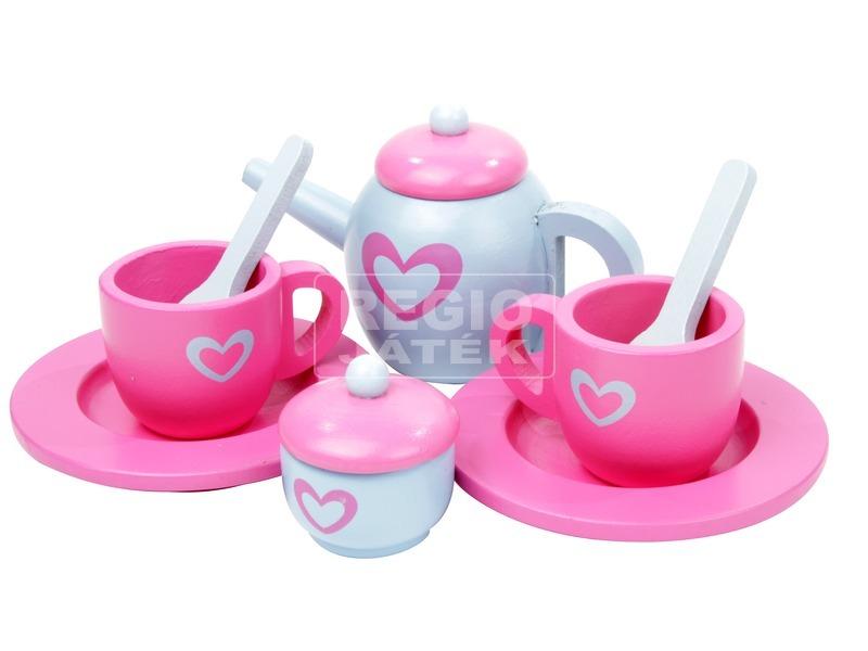 Fa teás 9 darabos készlet