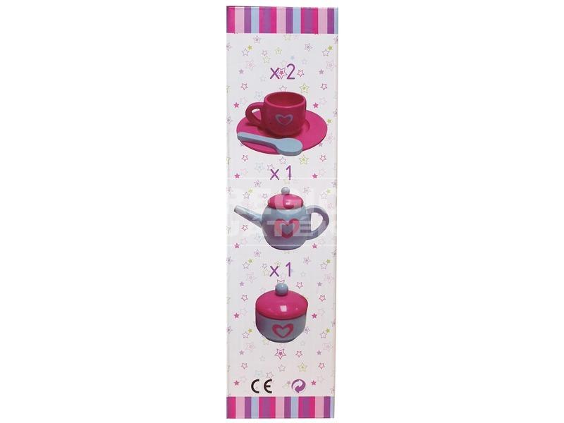 kép nagyítása Fa teás 9 darabos készlet