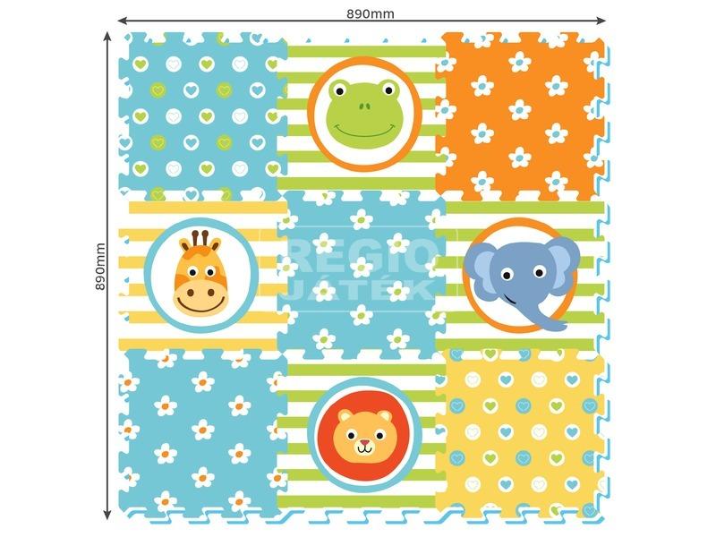 kép nagyítása Állatok 9 darabos szőnyeg puzzle