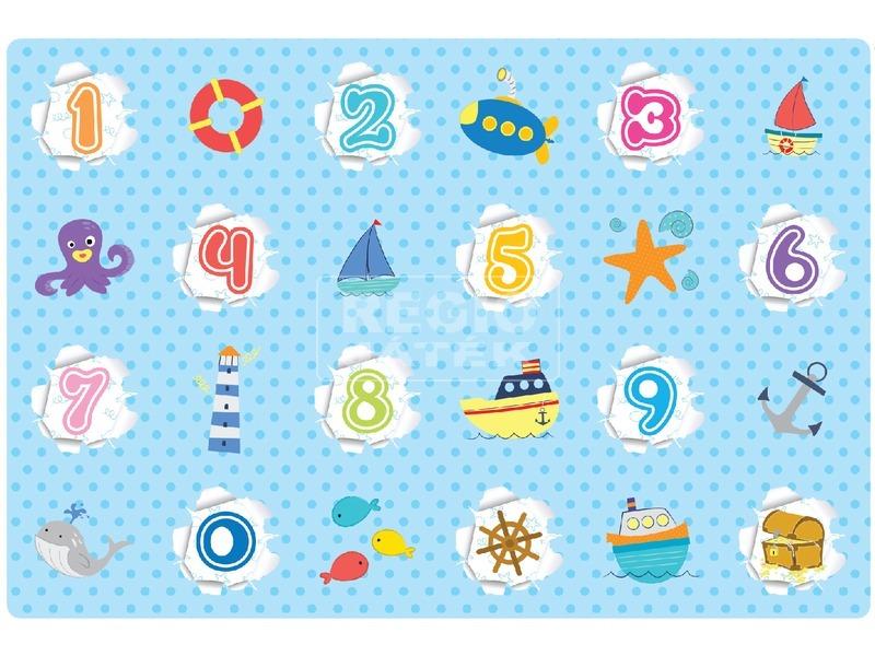 kép nagyítása Óceán és számok játszószőnyeg