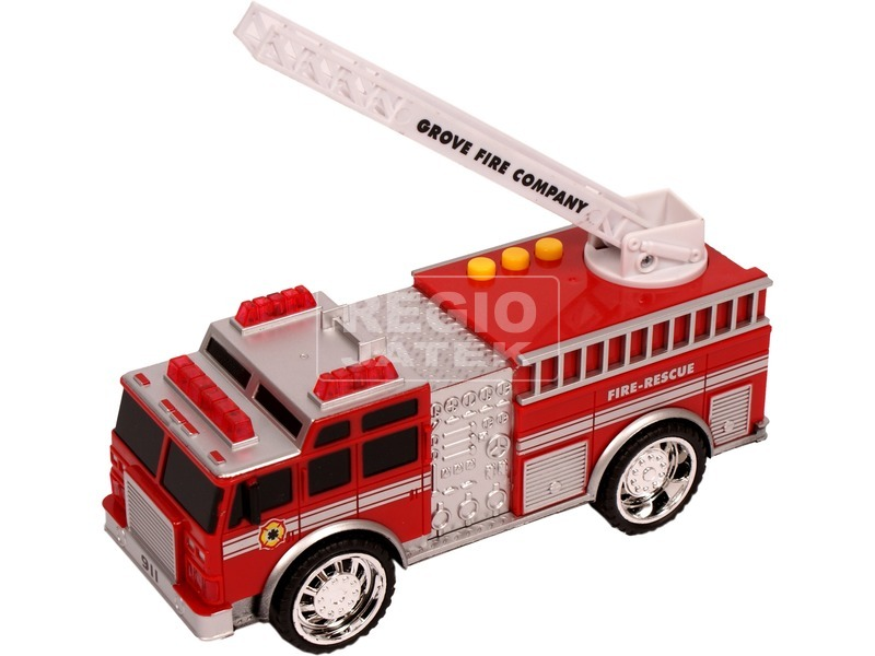 kép nagyítása Elemes műanyag tűzoltóautó - 18 cm