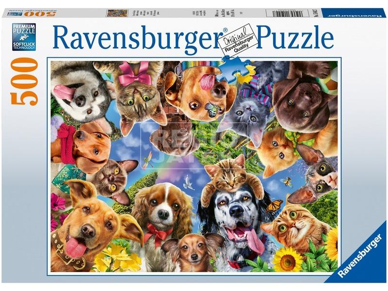 Puzzle 500 db - Állati arcok