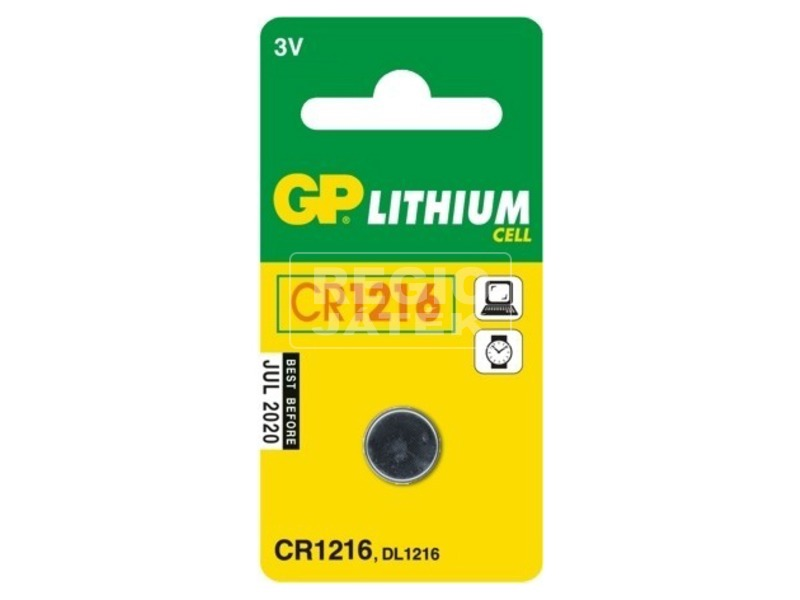 GP Lithium CR1216 gombelem