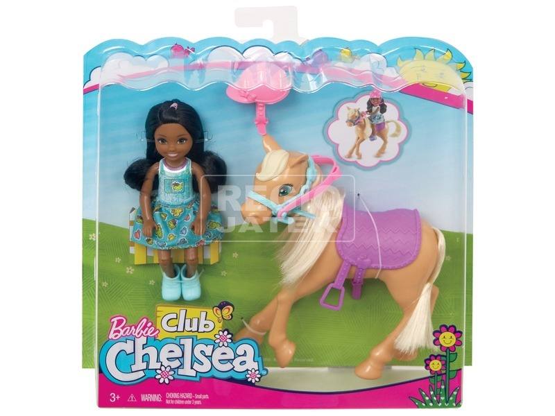Barbie Chelsea baba pónival - 12 cm