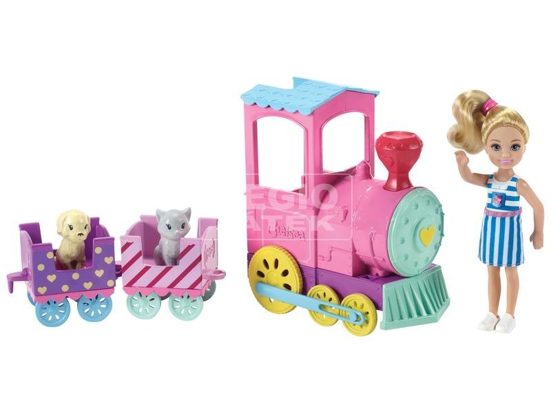 kép nagyítása Barbie Chelsea baba vonattal