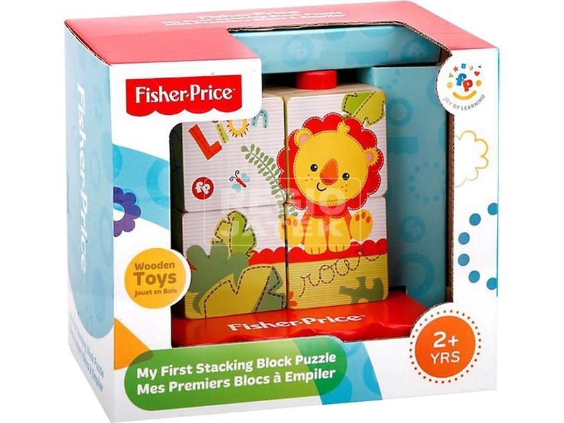 Fisher-Price oroszlános fakocka