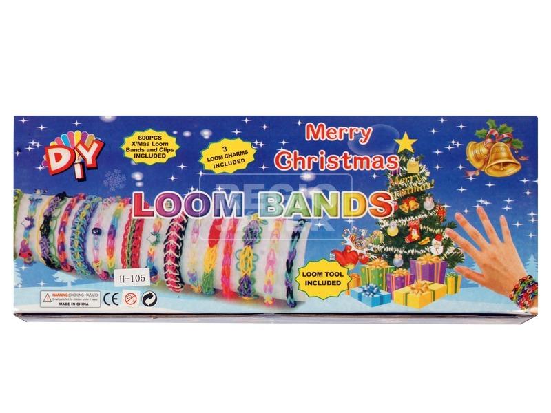 Karácsonyi gumikarkötő készítő készlet