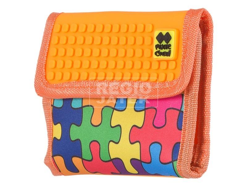 Pixie neszesszer - narancssárga, puzzle mintás