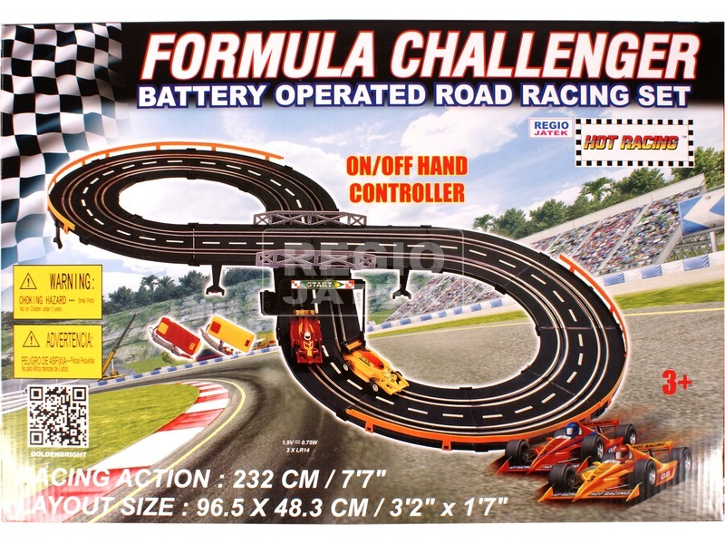 kép nagyítása Formula Challenger elektromos autópálya - 232 cm
