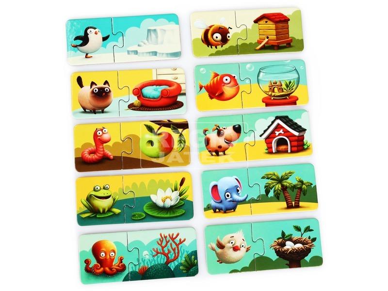 kép nagyítása Állatok és lakhelyeik XXL puzzle