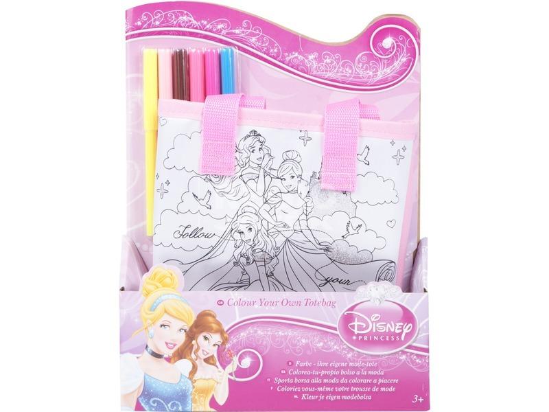 Disney hercegnők színezhető táska