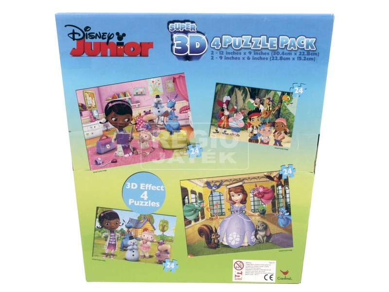 Disney 4 az 1-ben hologramos puzzle