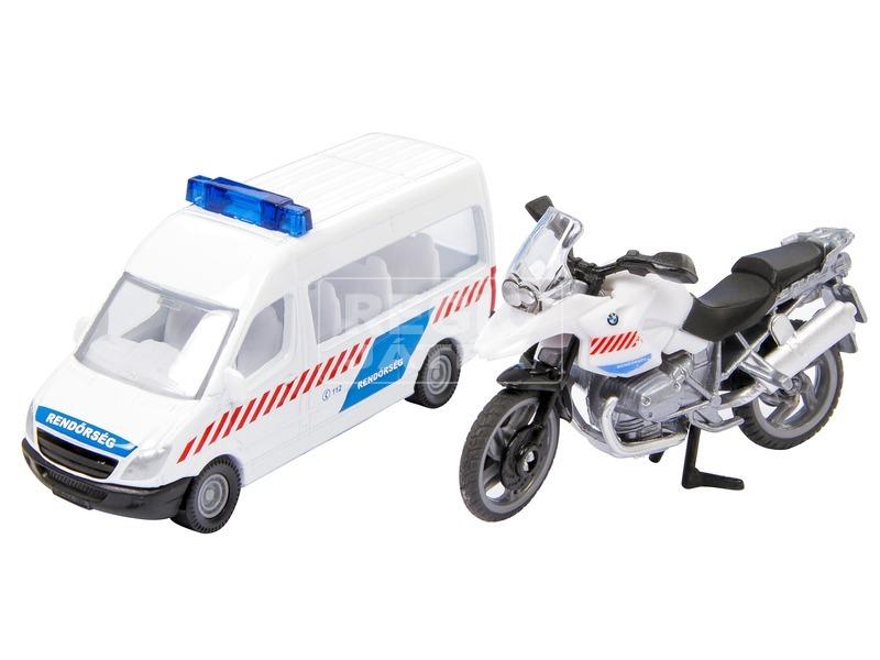 Magyar rendőrségi busz és motor 1655