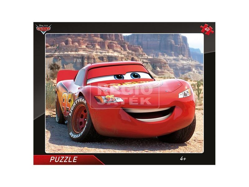Puzzle 40 db - Verdák: Villám McQueen
