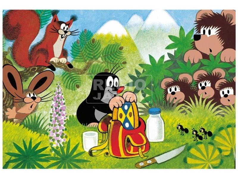 kép nagyítása Puzzle 48 db - Kisvakond piknikje