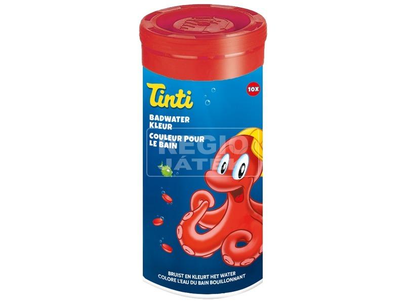 Tinti fürdővíz színező tabletta 10 darabos - piros
