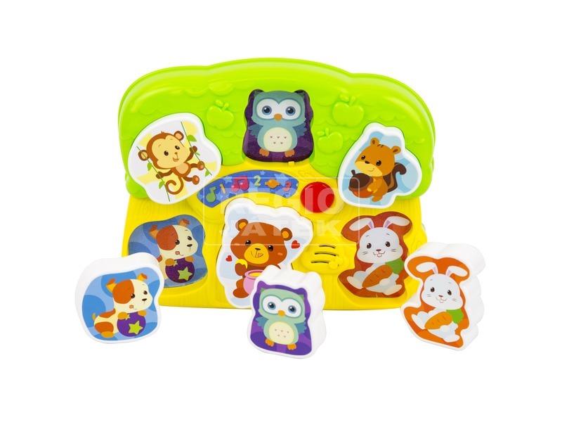 kép nagyítása Fények és hangok állatos puzzle bébijáték