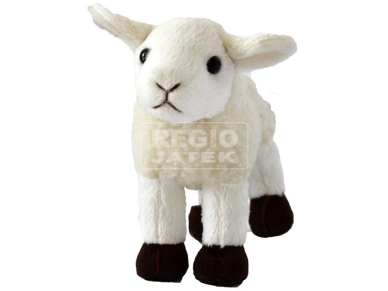 Bárány plüssfigura - fehér, 15 cm