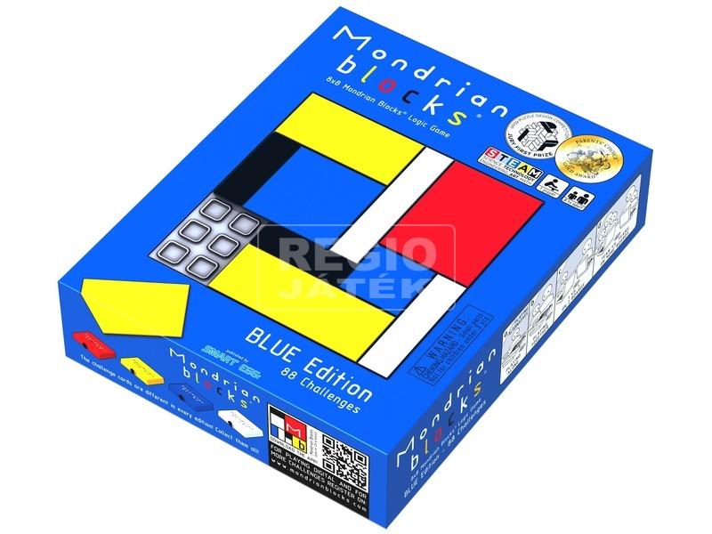 Mondrian logikai játék, kék