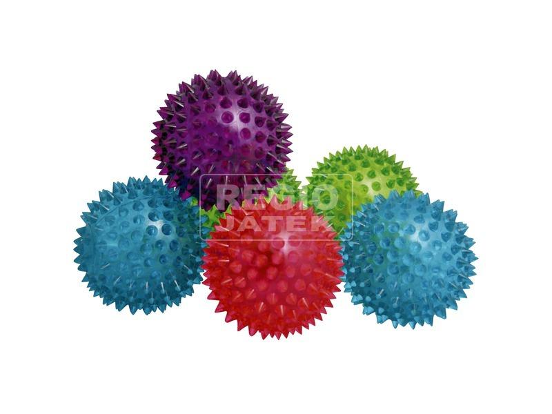 Tüskés villogó labda - 8 cm, többféle