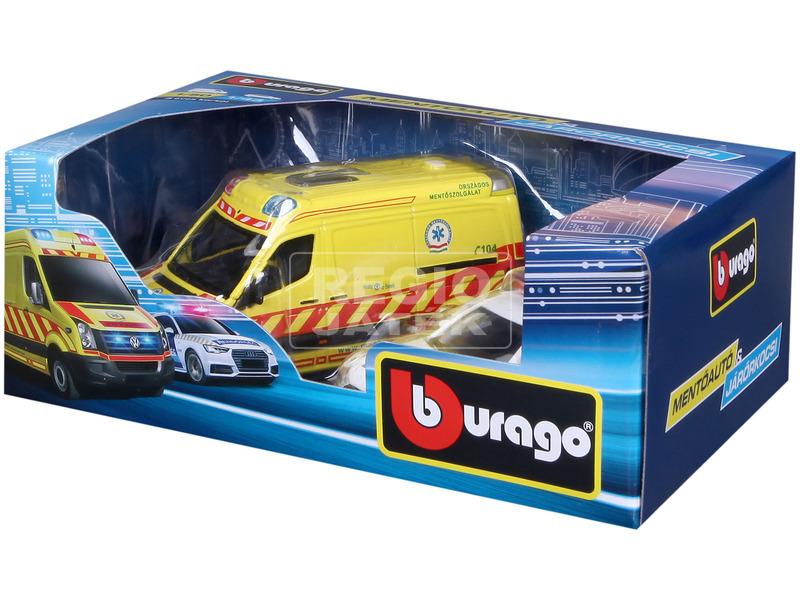 Bburago magyar VW mentőautó és Audi A6 rendőrautó