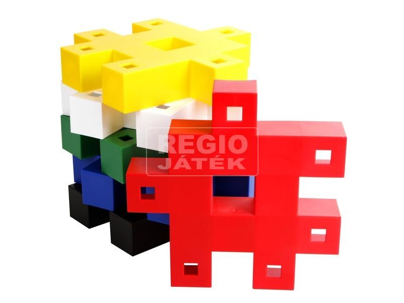 Műanyag építőjáték 6 darabos készlet - nagy