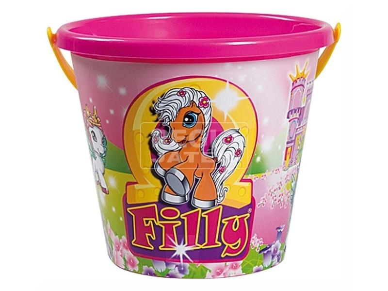Filly póni homokozó vödör - 17 cm