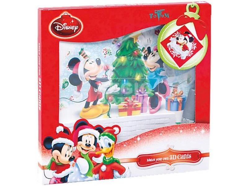 Mikiegér karácsonyi képeslap készítő készlet