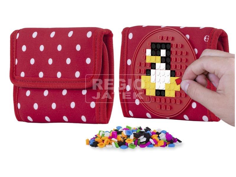 kép nagyítása Pixie piros pöttyös pénztárca, 100 pixellel