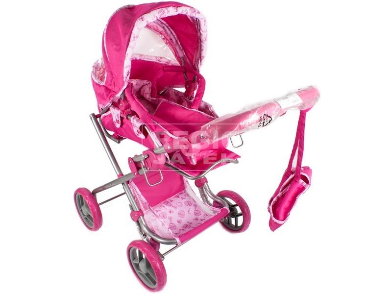 Mély táskás babakocsi  pink   8dfc2f7ffe