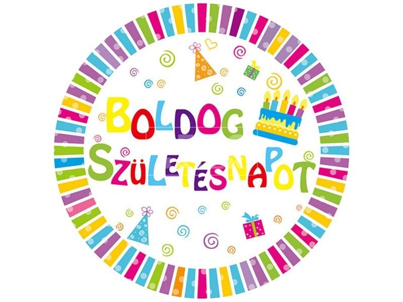 Boldog születésnapot kitűző