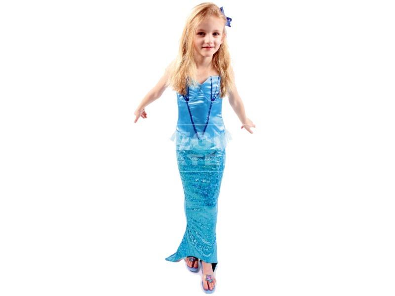 kép nagyítása Sellő jelmez - kék, 3-6 éves