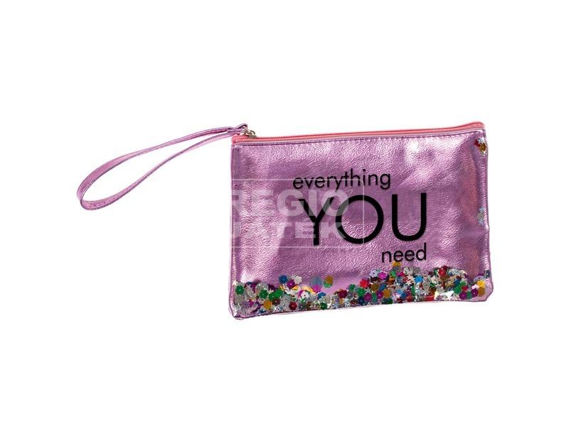 Flitteres pénztárca - rózsaszín