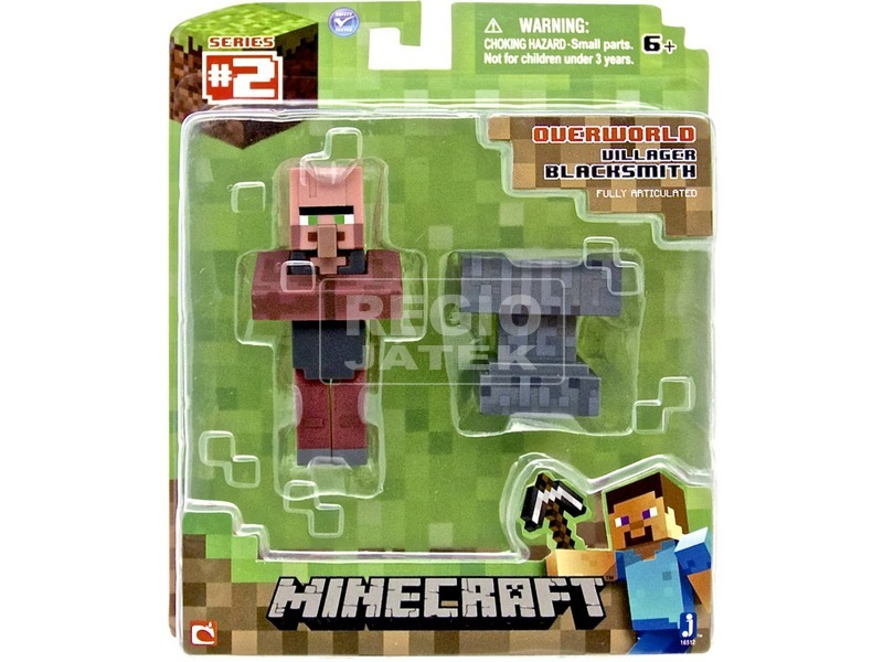 Minecraft kovács figura kiegészítőkkel - 8 cm