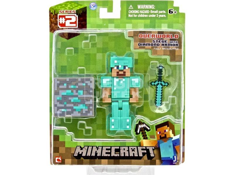 Minecraft Steve gyémánt páncéllal - 7 cm