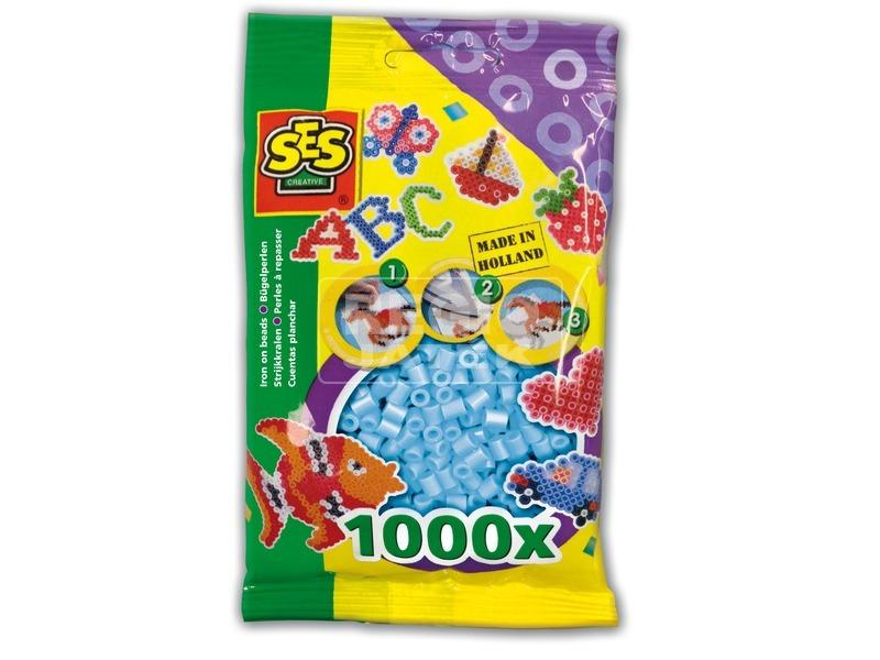Vasalható gyöngy 1000 darabos - világoskék