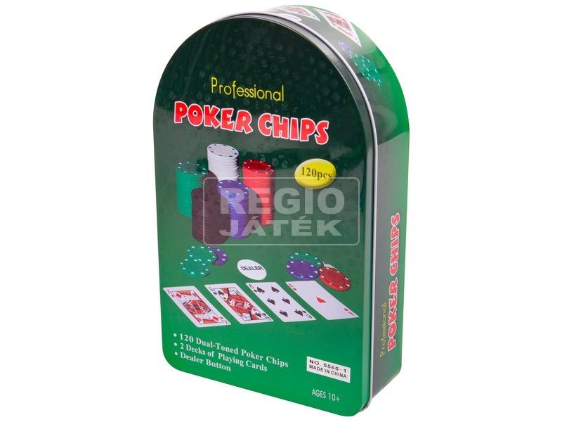 Fémdobozos póker készlet