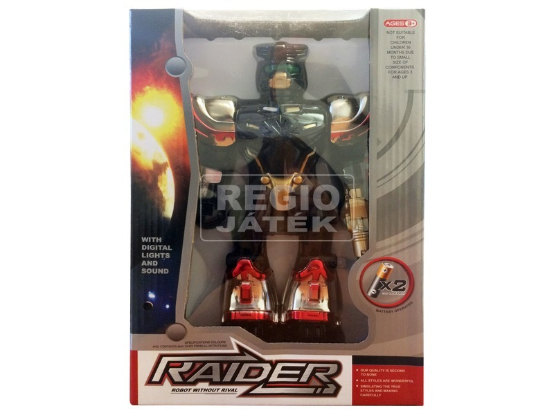 Raider robot fénnyel és hanggal