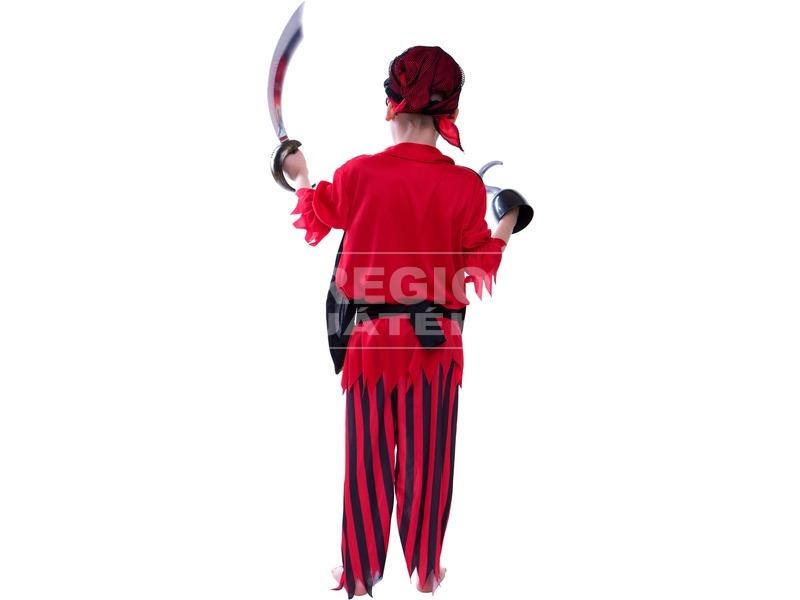 kép nagyítása Kalóz jelmez kendővel - piros, 116-os méret
